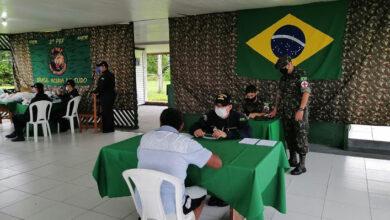 Foto de Polícia Militar participa de solenidade do Dia do Soldado, em Tabatinga