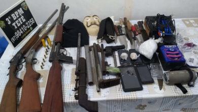 Foto de Em Tefé, PM prende três indivíduos e apreende armas de fogo, aparelhos eletrônicos e drogas