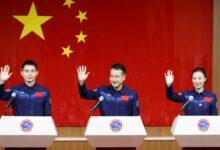 Foto de China enviará três astronautas a estação espacial no sábado