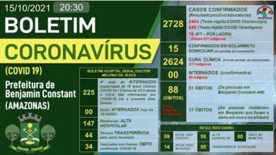 Foto de Benjamin Constant (AM) confirma 15 casos de Covid-19 ativos